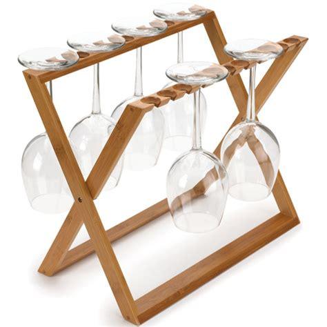 Glassware Rack by Bamboo Stemware Storage Rack In Wine Glass Racks