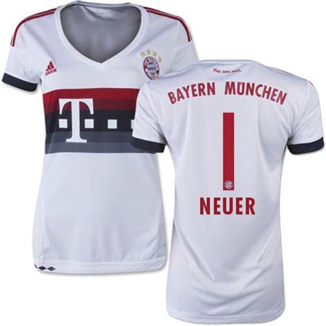 Jersey Buyern Munchen Grade Original 15 16 germany fc bayern munchen shirt 1 s manuel neuer authentic white away soccer