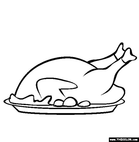 Cooked Turkey Coloring Pages thanksgiving coloring pages page 1