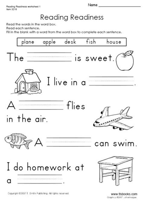 free printable english reading worksheets for kindergarten snapshot image of reading readiness worksheet 1 english