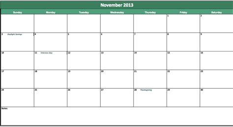 blank calendar template november 2013 november 2013 calendar printable 187 calendar template 2017