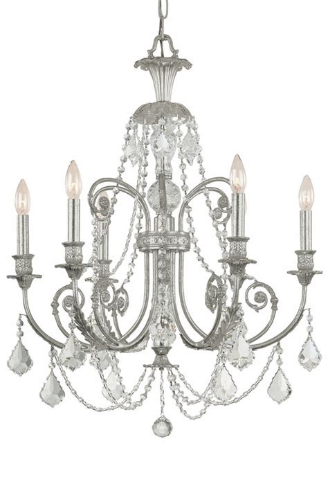Silver Chandelier Olde Silver Wrought Iron Large Chandelier With