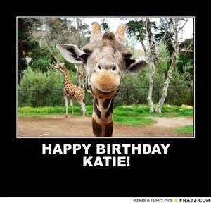 Giraffe Birthday Meme - happy birthday katie gangly giraffe meme generator
