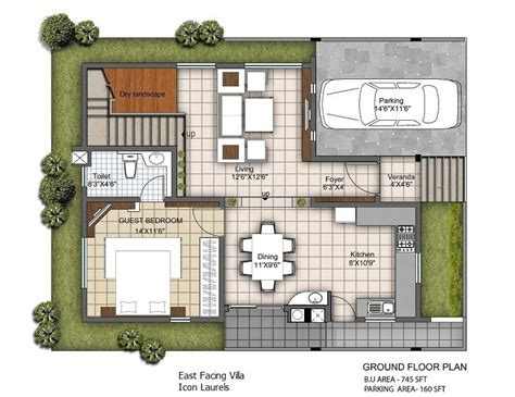 East Facing Plans 3 Bhk Duplex Villas East Facing Duplex House Plans