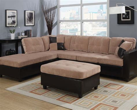 camel sectional sofa camel finish sectional sofa set milano by acme ac51230set