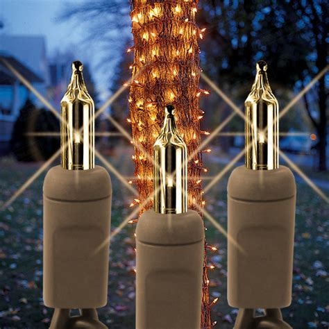 150 clear bulbs tree trunk wrap lights brown