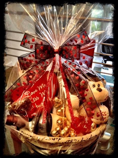 valentines day gift baskets for best 25 valentines baskets for him ideas on