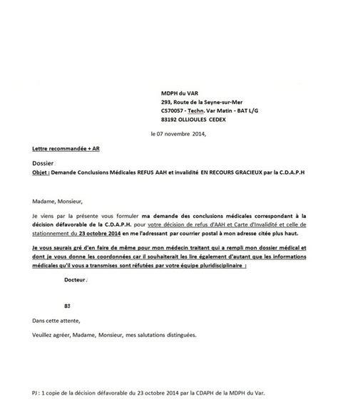 Demande De Congé Lettre Type Exemple Modele Courrier Mdph