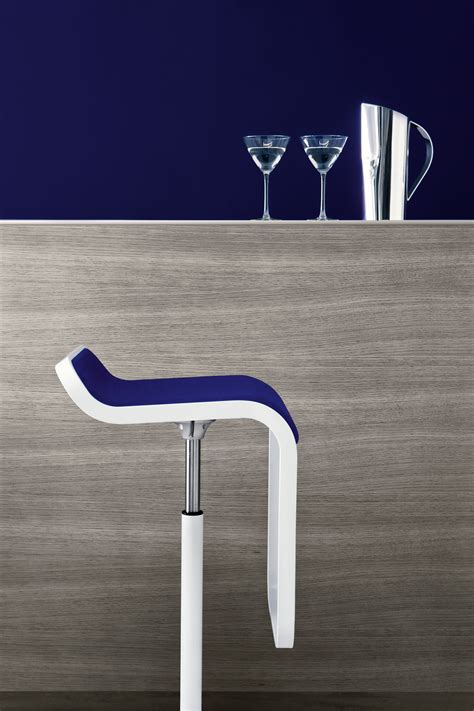 Lem Bar Stool White by Lem Adjustable Bar Stool Fabric Pivoting Seat Lacquered