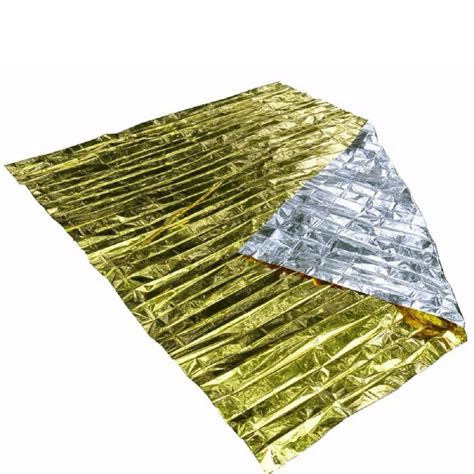 Emergency Blanket Gold Selimut Pencegah Hepotermia emergency aid survival blanket free shipping worldwide