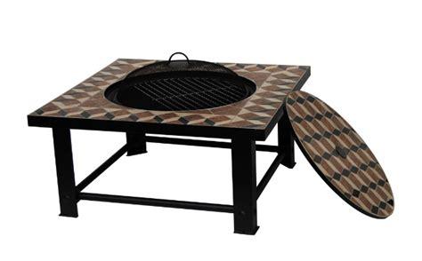 feuerschale tisch palermo feuerschale mit mosaik grill und tisch