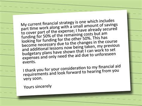 How To Write A Proper Financial Aid Appeal Letter How To Write A Letter For Financial Aid 3 Easy Steps