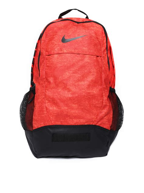 Tas Ed School Orange Black Backpack myntra nike unisex coral orange team backpack