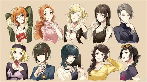 anime maid hairstyles persona 5 girls with new hairstyles persona5