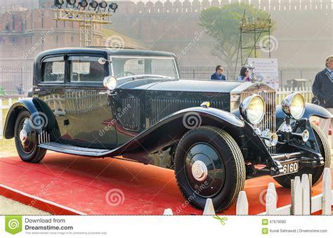 vintage rolls rolls royce vintage classic car editorial photo