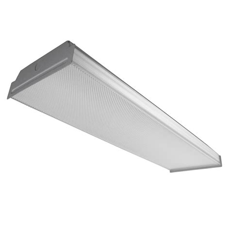 Fluorescent Light Ceiling Fixtures Shop Utilitech Prismatic Acrylic Ceiling Fluorescent Light Common 2 Ft Actual 24 75 In At
