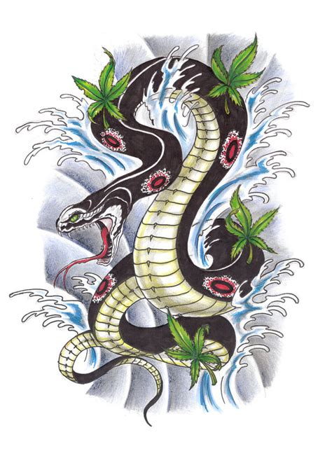 oriental design by wizyakuza on deviantart asian snake tattoo design by konz3pt deviantart com on