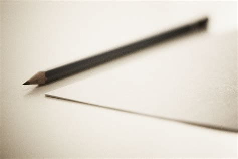 How To Make A Paper Pencil - file sharpened pencil next to sheet paper jpg wikimedia