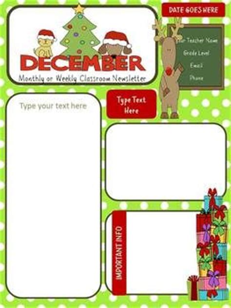 december newsletter template december winter newsletter school