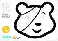 Pudsey Template Printables by Make Your Own Pudsey Mask Scholastic Club
