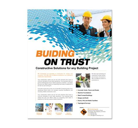 construction brochure template 15 must see commercial construction pins construction