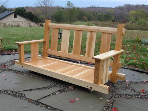 make a porch swing how to build an adirondack porch swing
