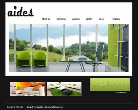 Best Web Templates Website Templates Design Furniture Website Design 2