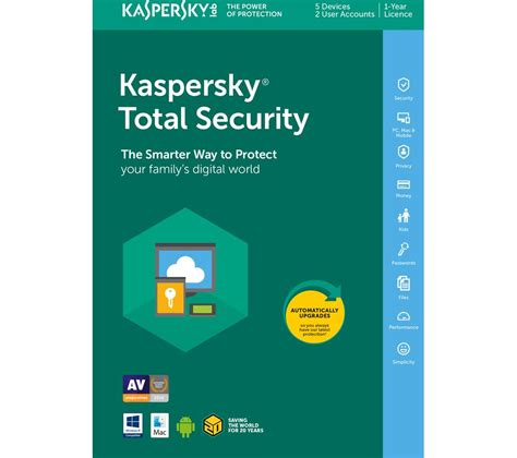 Kaspersky Security 5 User kaspersky total security 2018 1 year for 5 devices deals