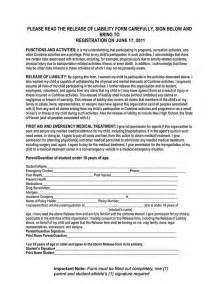 waiver agreement template 10 best home care images on child care free