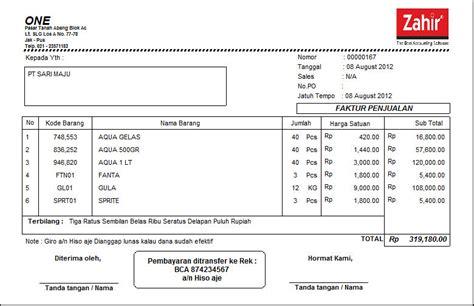 software pembuat faktur invoice contoh faktur software akuntansi terbaik zahir accounting
