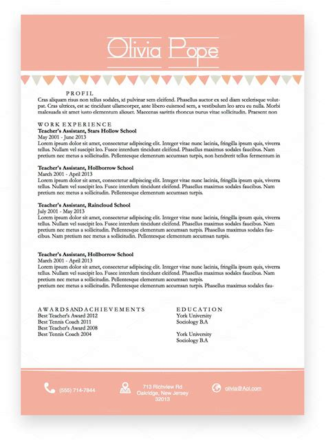 Cv Template Docx Teachersresumetemplatedocxpinkbanners O Png 1429238027