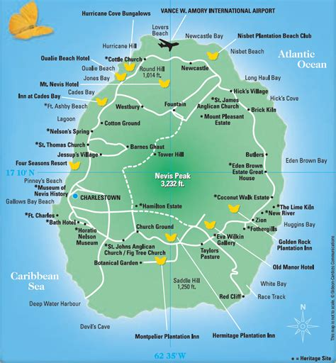 st kitts and nevis map nevis tourist map nevis island mappery