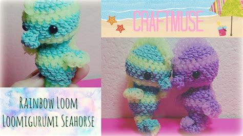 How To Make A Seahorse Out Of A Paper Plate - rainbow loom loomigurumi seahorse