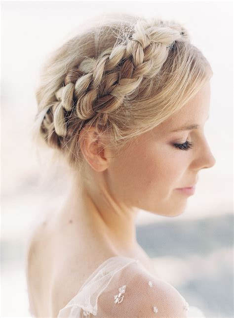 braided hairstyles makeup milkmaid braid unconventional wedding beauty ideas that
