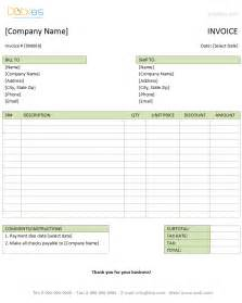 invoice doc template tax invoice template word doc invoice exle
