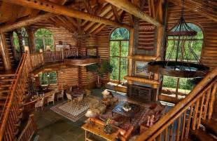 cabin interior log homes pinterest