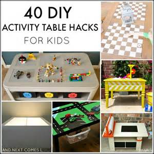 40 diy activity table hacks for and next comes l
