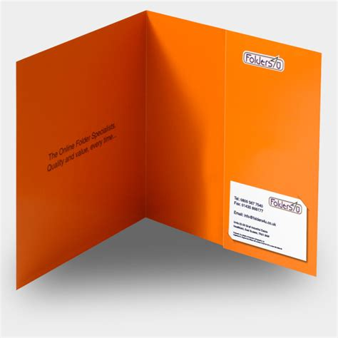 Square Folder Buy Folders Online From Folders4u Co Uk Folder With Business Card Slot Template
