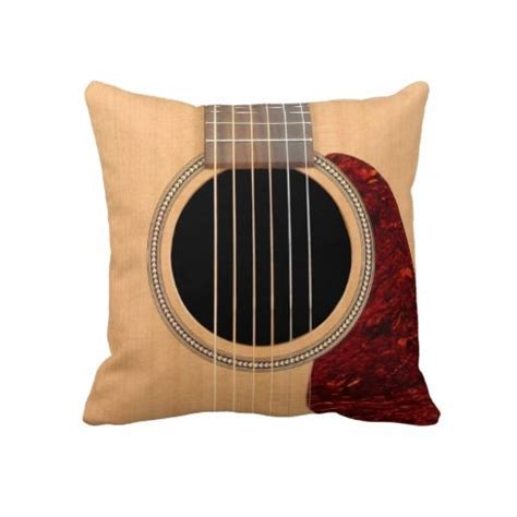 guitar pillows dreadnought acoustic 6 string guitar pillow zazzle