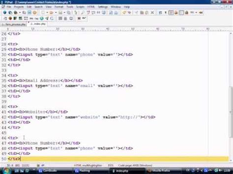 tutorial php contact form html php tutorial building a working contact form part