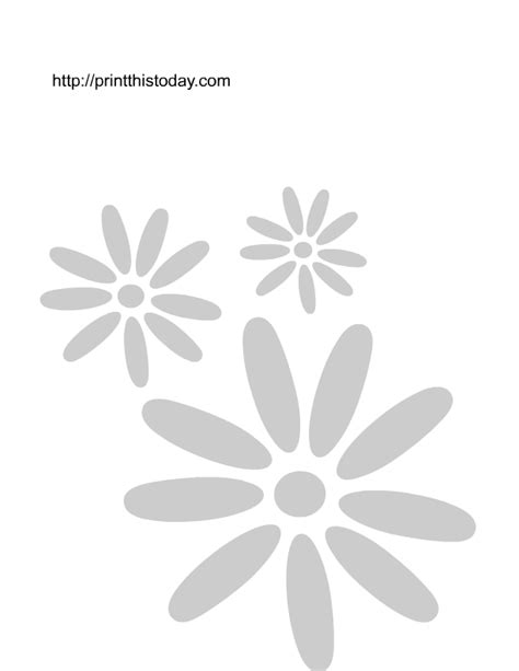 printable daisy stencils best photos of flower stencil template flower stencil
