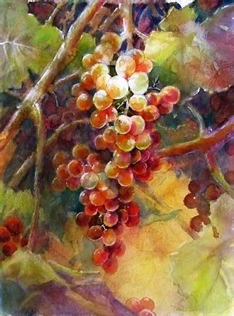 watercolor grapes tutorial grapes using a roadmap artchat porcelain art plus