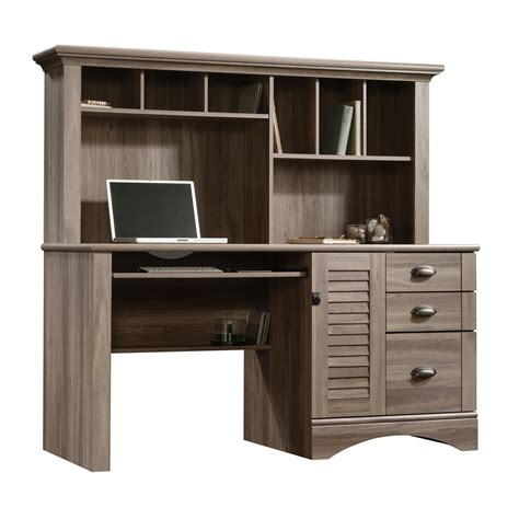 sauder harbor view computer desk sauder harbor view computer desk w hutch shop your way