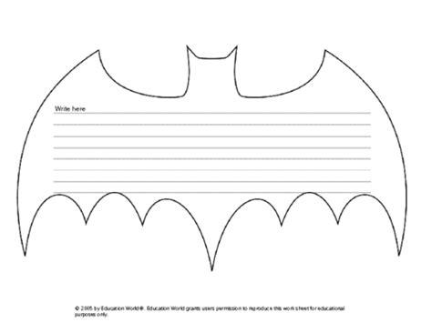 printable bat stationary superhero activities free bat writing prompt pattern