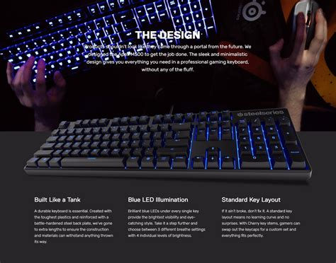 Steelseries Apex M500 Cherrymx Blue Switch New steelseries apex m500 mx illuminated mechanical gaming keyboard buy now for 149 00 jw