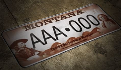 license plate designs  fees montana department  justice