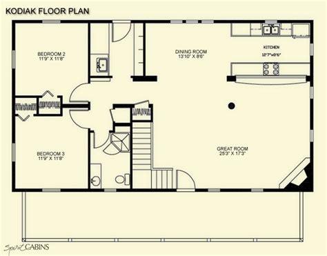 1 Bedroom Cabin With Loft Floor Plans