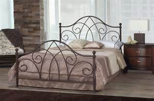 Iron Rod Bed Frame Scroll Caramel Brown Wrought Iron Bed Frame