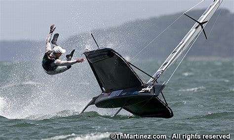 sailing boat moth its a carnage sort of day at moth worlds