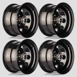 Truck Wheels 8 Lug Steel Set 4 16 Quot Vision Soft 8 8 Lug Black Steel Wheels For Gmc